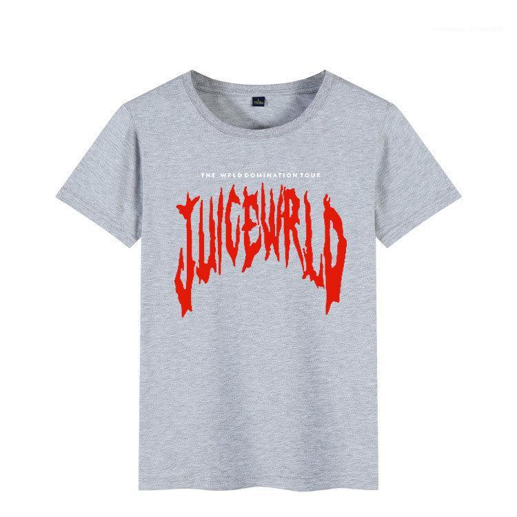 Sommer-T-Shirt Kurzarmshirt mit runden Ansatz beiläufigen Print Tees der Frauen der Männer Kleidung RIP Saft Wrld