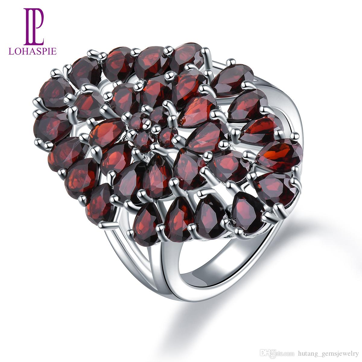 Garnet Necklace Ladies 925 Sterling Silver Hallmarked Boxed Gift For Her UK FAST