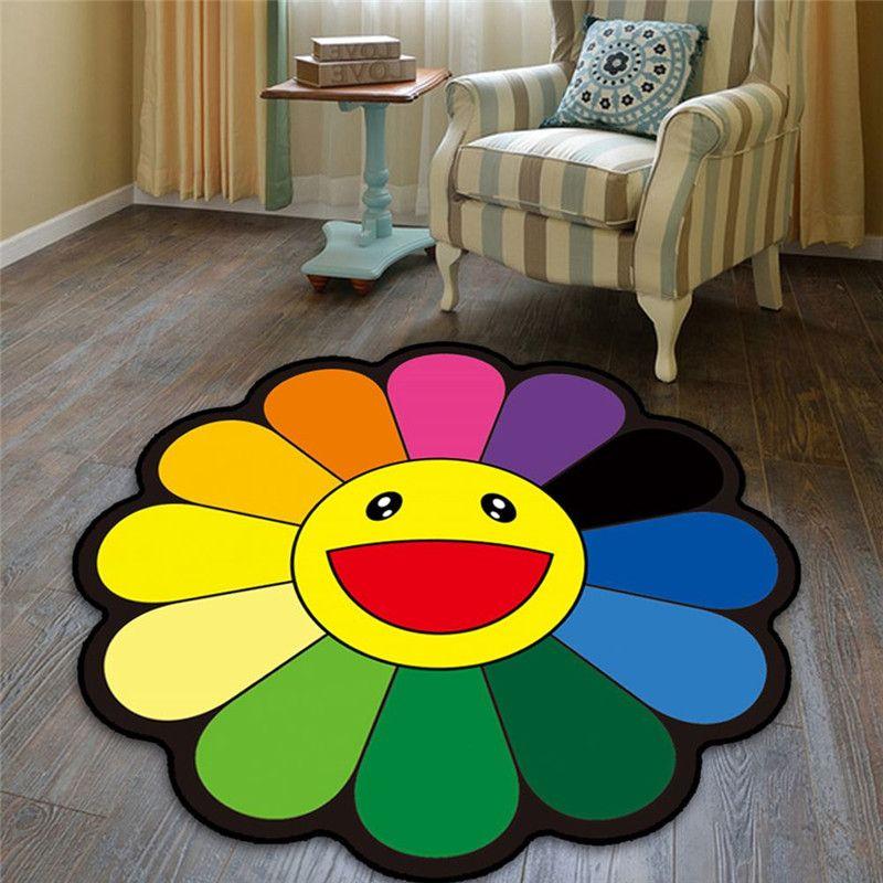 80см ВС Цветы Skid Resistance Ковер Главная спальня кровати украшения R579