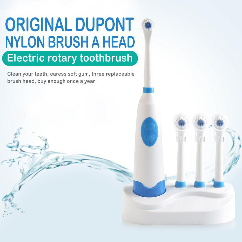 3 Fırçalı Döner Elektrikli Diş Fırçası Su geçirmez Elektrikli Sonic Akıllı Bluetooth Diş Bakımı Heads