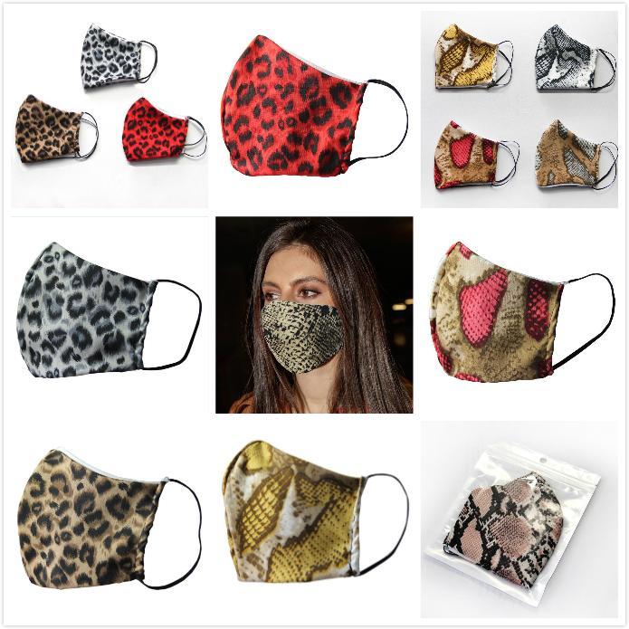 Máscaras leopardo 3D impresa boca Protect Anti-polvo del viento boca de algodón Máscara lavable y transpirable Cyling bicicletas protectora 9 estilos