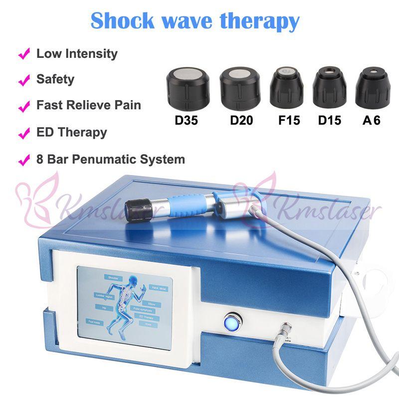 Allemand Thomas marque compresseur phneumatic 8bar étape par 0.5bar thérapie par ondes de choc pour l'élimination de la cellulite de dysfonction érectile