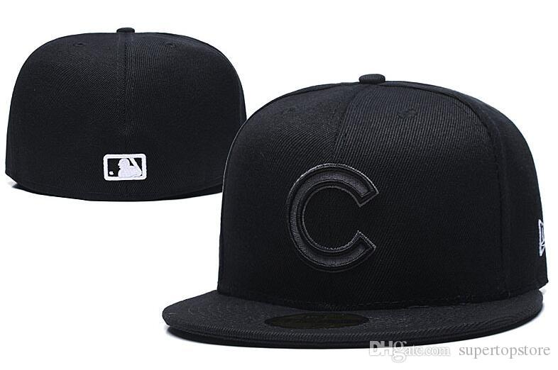 Спортивная команда 2020 горячая распродажа популярные Чикаго хип-хоп мужские приталенный шапки на поле полный закрытый дизайн сплошной цвет медвежата размер Бейсбол оборудованы шляпы
