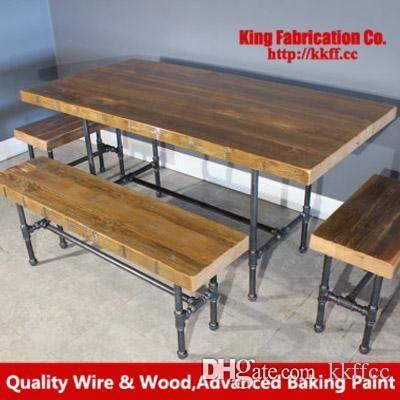 in legno americano mobili in ferro battuto camera da letto in legno massello rastrelliere per computer scrivania del computer