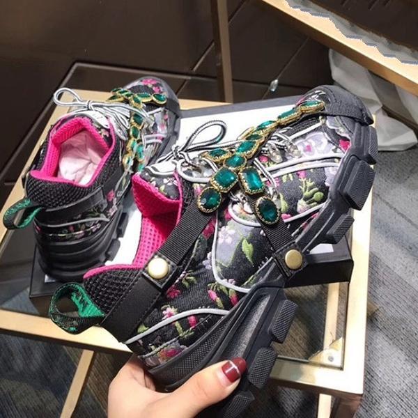 Spor ayakkabılar Tırmanma Ayakkabı qa40 Koşu Çıkarılabilir Kristaller erkekler Kadınlar iskarpin ayakkabı Erkek