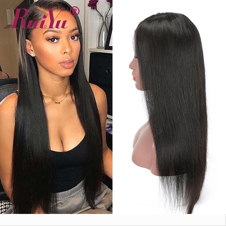 13X6 Straight Lace Front Wigs Fast Shipping Malaysian Human Hair Wigs Silky Straight Wig For Black Women Ruiyu Remy Lace Wigs Sold