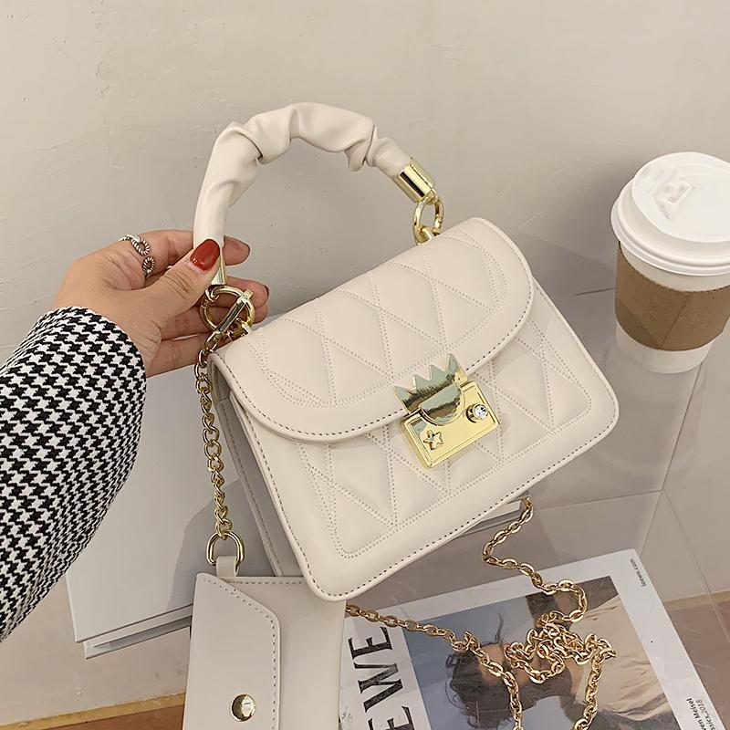 SICAK Fransız Tasarım Moda Elmas Kare Çanta Çanta Şık Omuz Çantası Messenger Genişlik 20cm Yükseklik 14cm Kalınlık 7cm