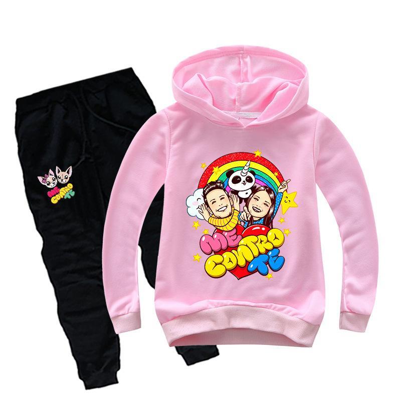 Teenmiro Me Contro Te Детская одежда Набор мальчиков с капюшоном Толстовки Брюки для девочек хлопковые костюмы тинейджеров Спринг Спортивный костюм Детские костюмы