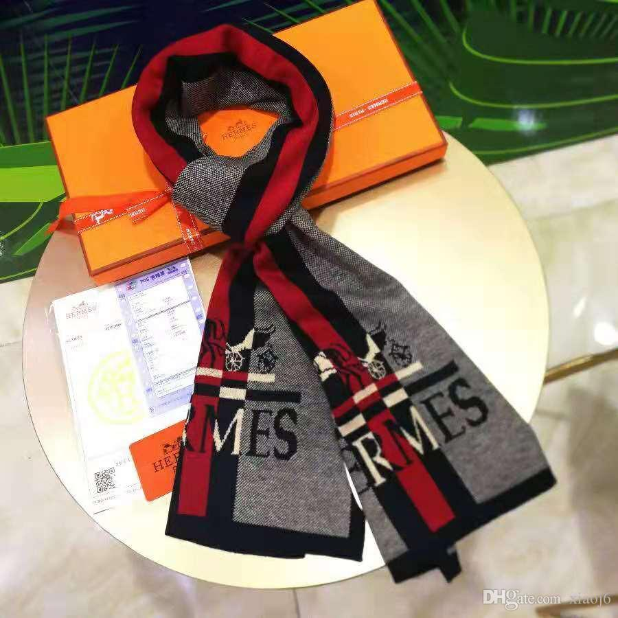design de moda masculina lenço da manta de caxemira cachecol de inverno presente de luxo frete grátis cor popular