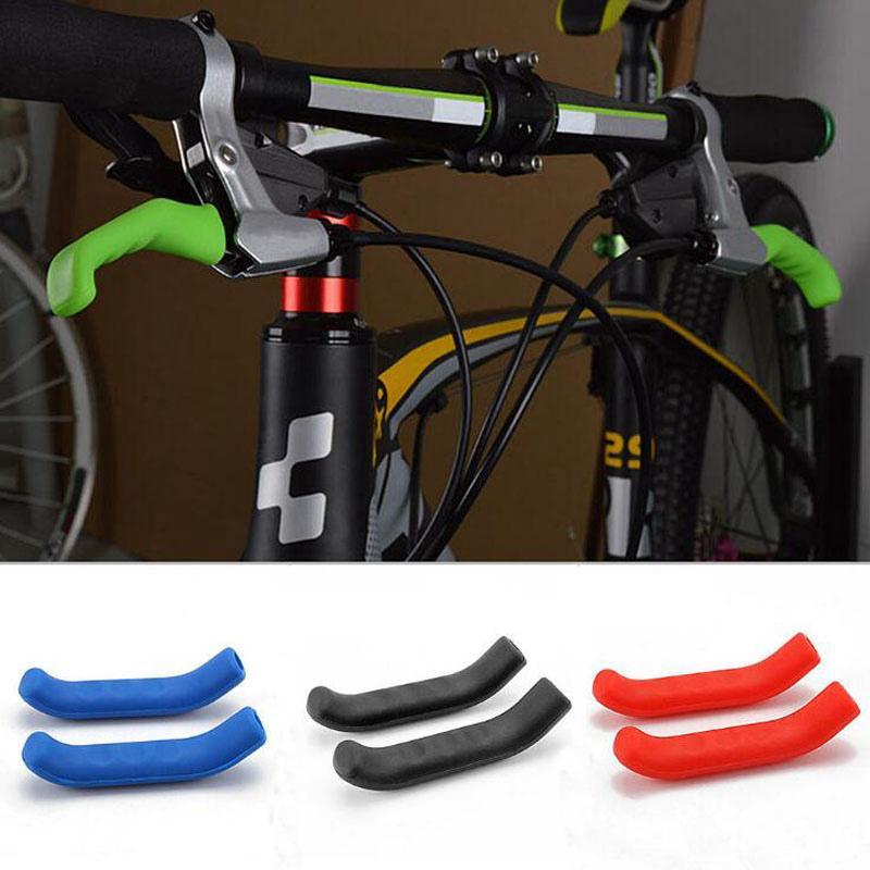 Manija de freno de bicicleta cubierta de silicona para bicicleta MTB del manillar protege antideslizantes accesorios de la cubierta protectora de bicicletas equipo de bicicleta