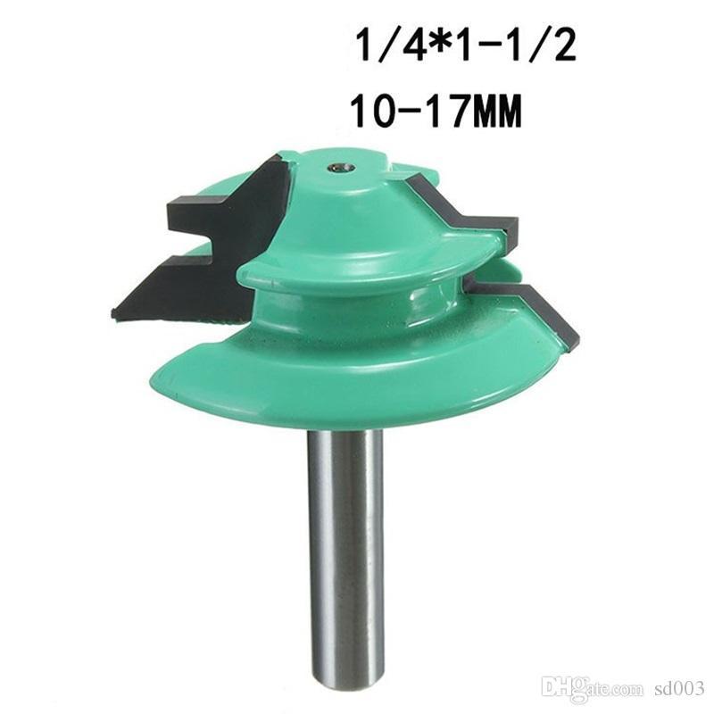 45도 1/2 핸들 목재 밀링 커터 두 가지 색상의 드릴 비트 라인 나이프 직각 칼 목공 도구 35jc9 E1을