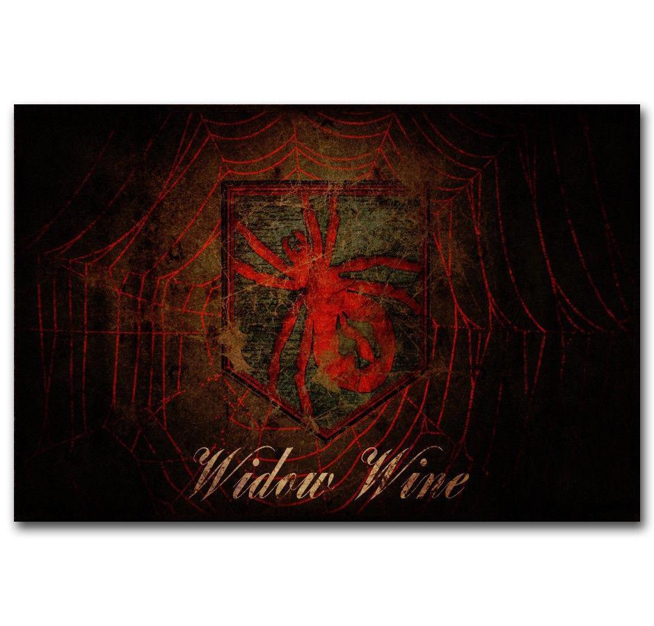 Зомби вдова вино перк Кола черный Ops искусство шелк печати плакат 24x36inch (60x90cm)