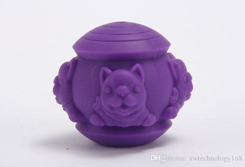 Pet IQ Treat Ball Pet Silicone Leaking Puzzle Toy Ball Dog Fun Tumbler Leaking Food Ball Dog Self Feeding Toy 1PCS