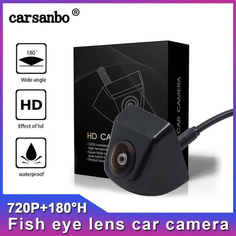 Fish Eye Lens Starlight Night Vision HD 720P Vision with 180H Wide Angle Vehicle Rear Front View Camera Reverse Camera Monitor car
