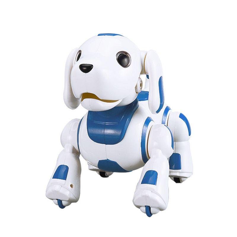 YDJ K22 RC Robot Dog Toy, Touch Sensing Control, Dance& Sing,Lights, Intelligent Programming, Learn English, for Christmas Kid Birthday Gift