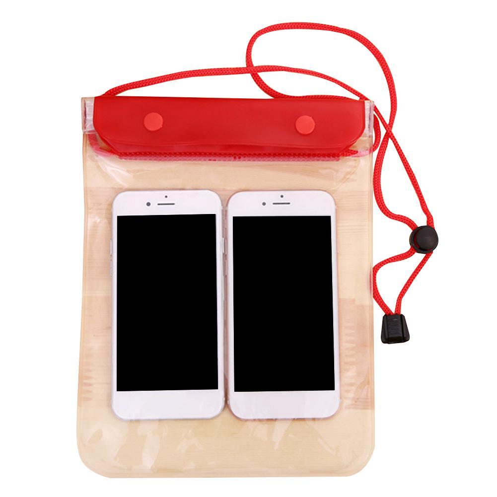 Подводное плавание Большой телефон владельца Уплотнительная Водонепроницаемая сумка? Дайвинг хранения крышки Прозрачный ПВХ пляж с талреп