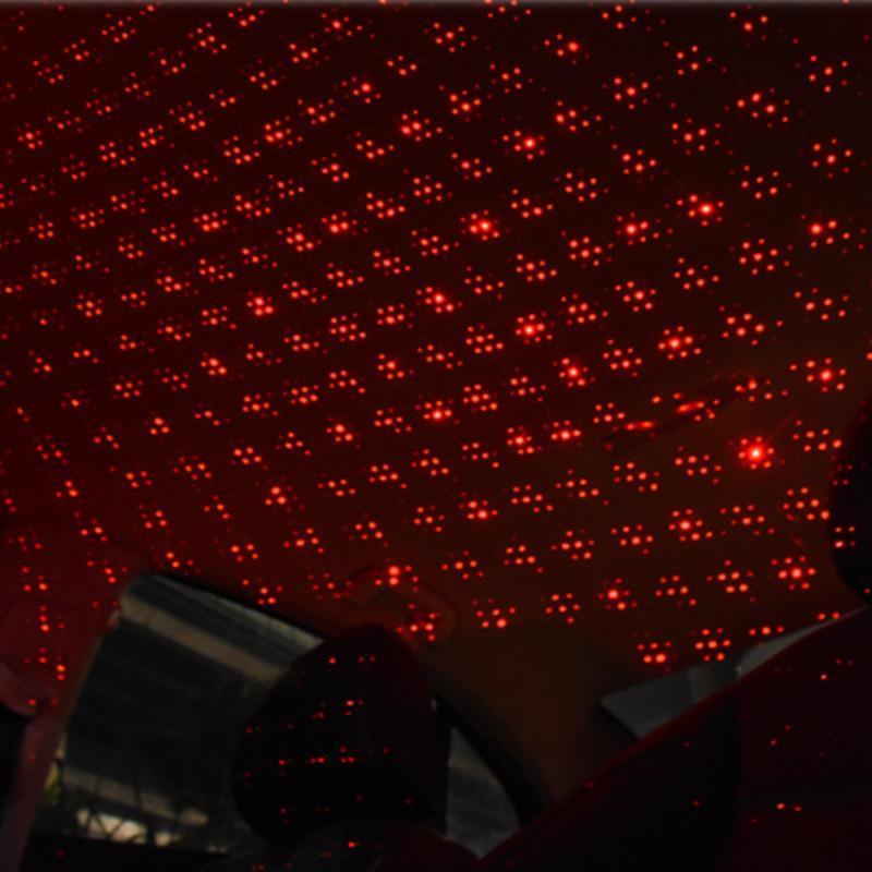 Car Styling Mini LED Car Roof Star Night Lights Projector Light Interior Ambient Atmosphere Lamp Decor Light USB Plug