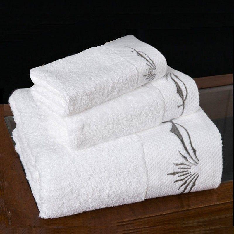コットンタオルセット1ピースバスタオル1ピース顔1ピーススクエアタオル刺繍5つ星ホテルスパイラル厚いカスタムロゴ