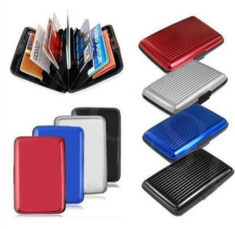 10 colors Aluminum Business ID Credit Card Wallet Waterproof RFID Card Holder Pocket Case Box fast shipping dc904