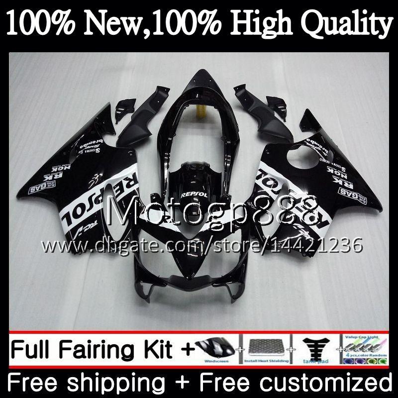 Body For HONDA CBR600F4 CBR600 F4 99 00 FS 44PG9 CBR 600F4 Repsol black 99 CBR600 FS CBR600FS CBR 600 F4 1999 2000 Fairing Bodywork kit