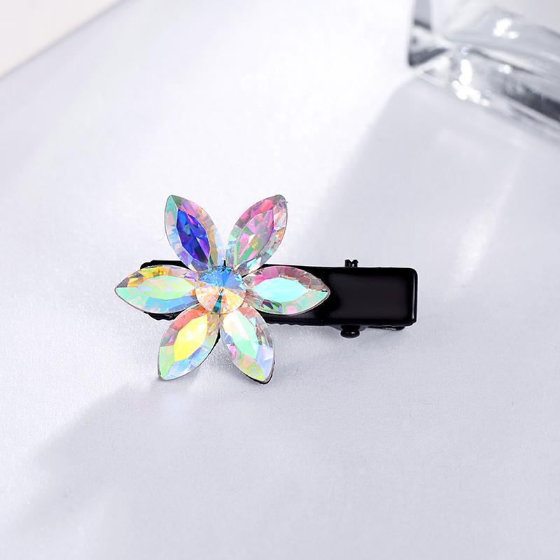 Оптовая металл Шпилька маленький цветок искусственный кристалл сплава укладки волос клипы горный хрусталь сторона волос Pin Аллигатор для девочек