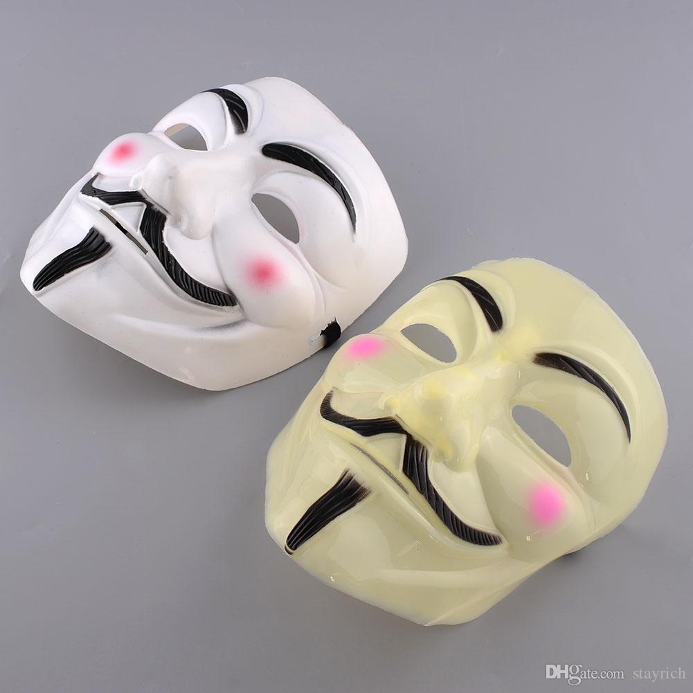 Halloween Masque V pour Vendetta Masque Anonyme Guy Fawkes Déguisements Costume Party Accessoires Masques Cosplay