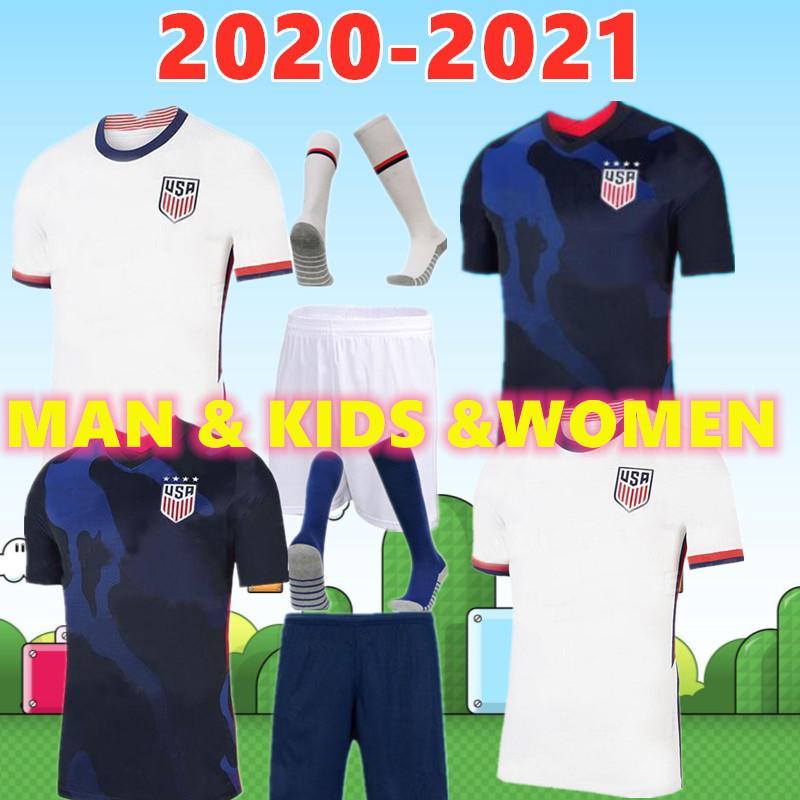 2020 월드컵 코파 아메리카 축구 유니폼 라벨르 미국 LLOYD RAPINOE KRIEGER 미국 축구 셔츠 남성 여성 아이가 균일 한 티 키트