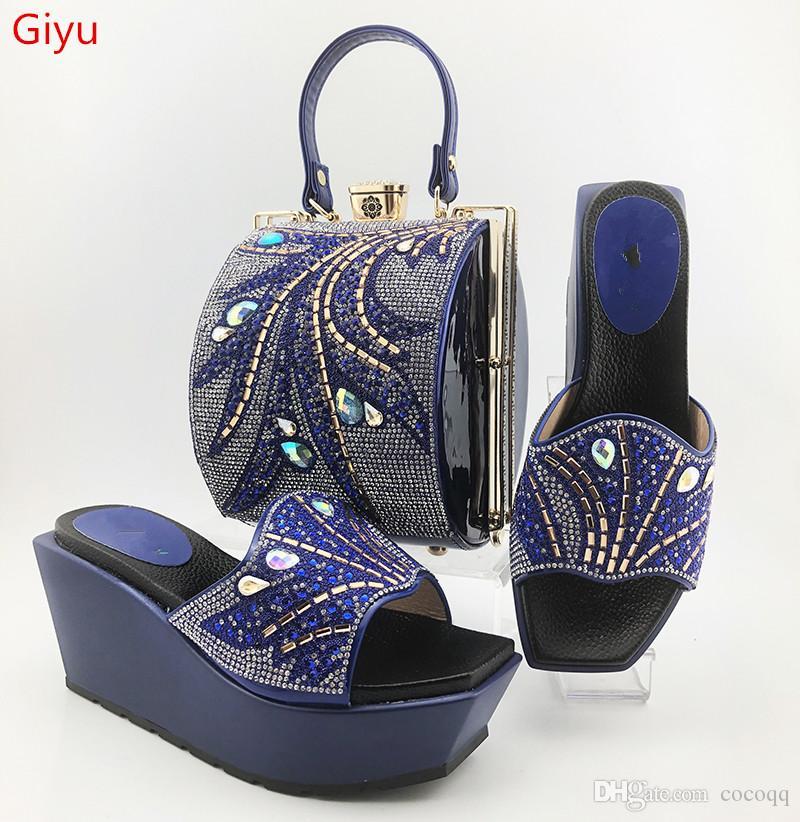 Высокое качество Африканский стиль Женская обувь и сумки Установить Последние orangeItalian обувь и сумка Набор для партии ES1-6