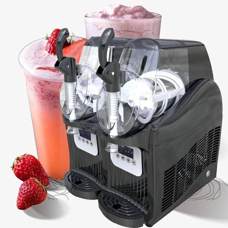 Factory commercial 2L * 2 snow slush machine commercial industrial snow melting machine 110v 220v cold drink machine direct sales