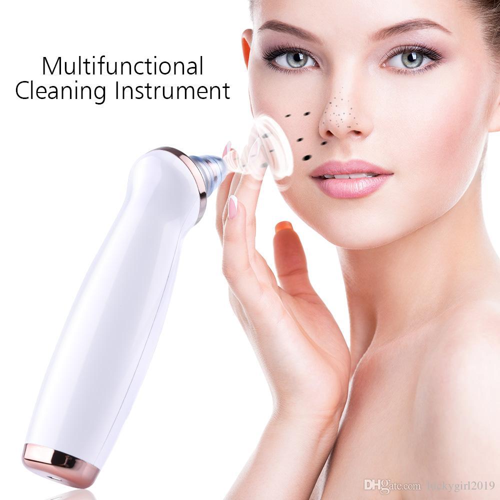 2019 nova Removedor de Cravo Cuidados Com A Pele Poros de Vácuo Acne Espinha de Remoção de Sucção Ferramenta de Sucção De Vácuo Facial Dermoabrasão Máquina de Diamante Rosto Limpo