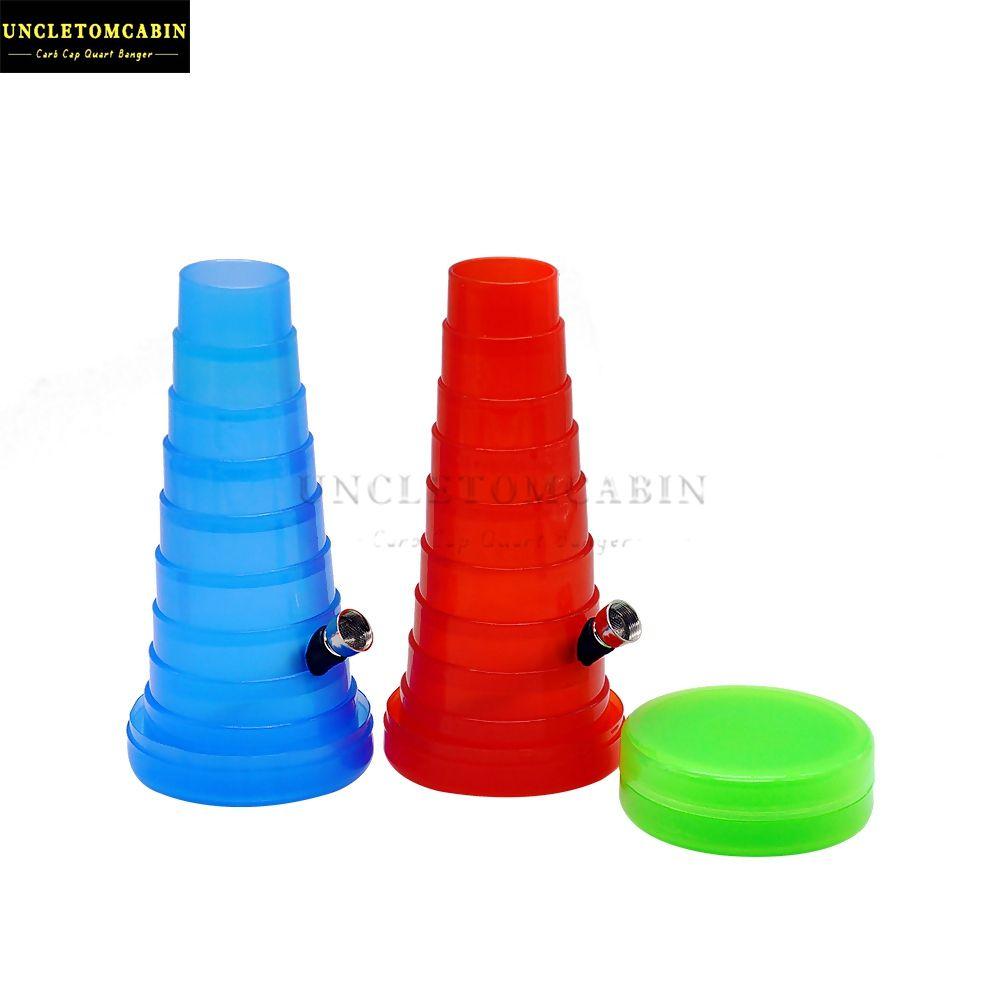 Stretch de fumar Torre Shisha Bolso Colaborável Bongo Tubulação de Água Viagem Kit de Hookah Portable Atacado