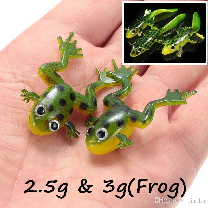 1pc 3D Occhi della rana PVC Pesca richiamo morbido adesca i richiami 2.5g 3g BL_13
