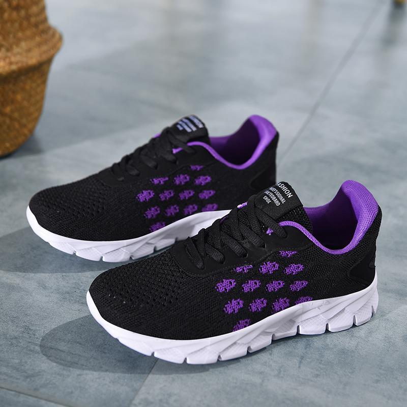 2020 New Jogging Damen-Walking-Schuhe Große Größen-Breathable Frauen Sportschuhe Low Top Runners für Damen Günstige Mädchen Gym