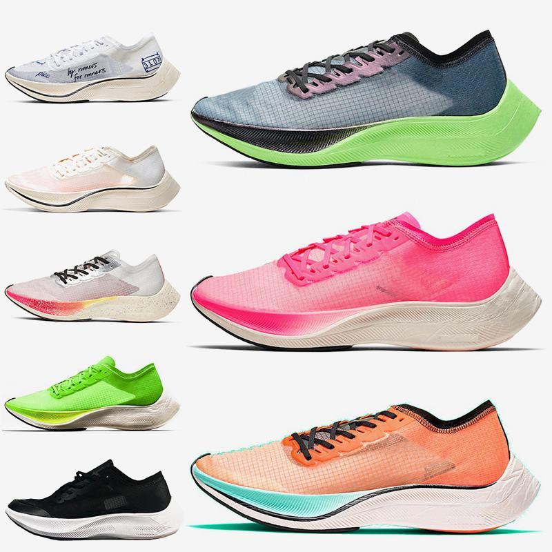 Nike Air ZoomX Vaporfly Next% женские мужские кроссовки дышащие валерианы синий розовый Ekiden Blue Ribbon Be True кроссовки для бегунов 36-45