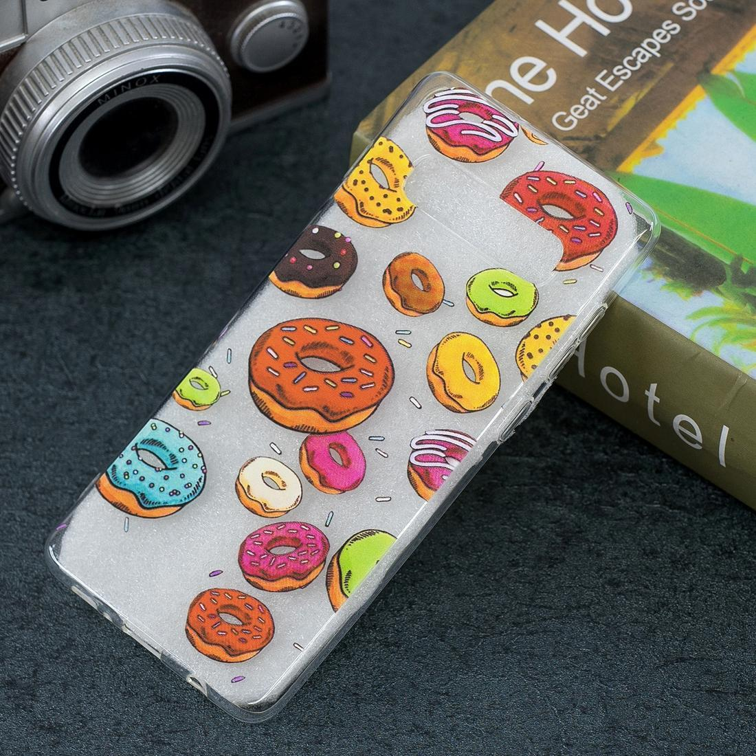 Doughnut Pattern Transparent TPU Protective Case for Galaxy S10