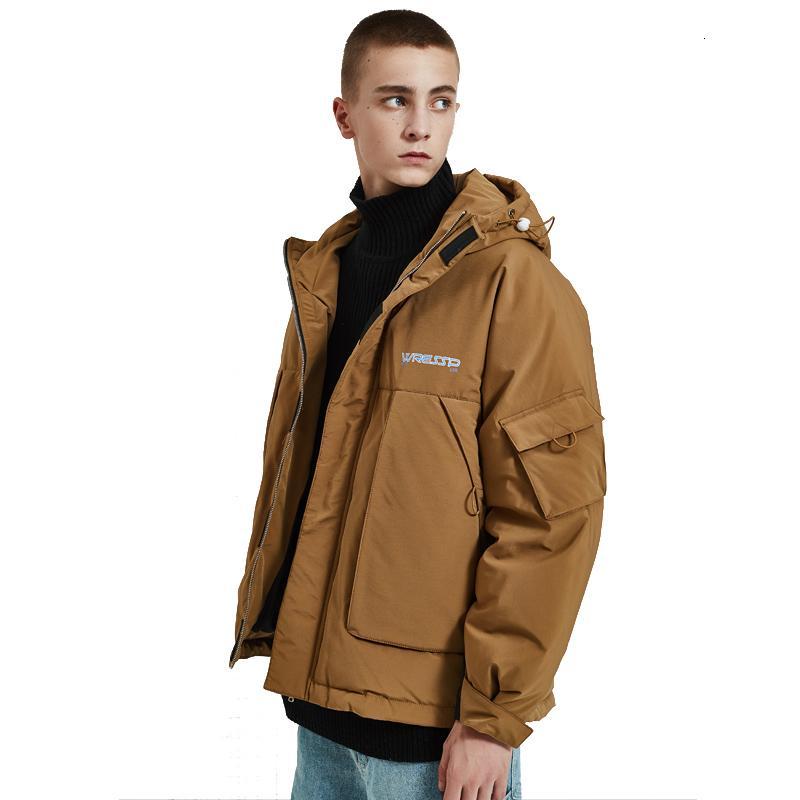 novo inverno espessamento dos homens soltos capuz jaqueta moda de alta qualidade ocasional simples wild clássico T190923 revestimento dos homens