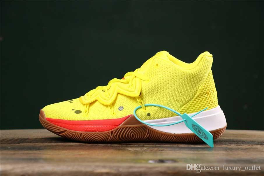 2019 Nuovo arrivo Mens Kyrie Shoes TV PE Scarpe da basket 5 per il 20 ° anniversario Spugna X Irving 5s V Cinque Sneakers sportivi di lusso US12