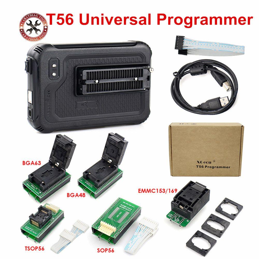원래 XGecu T56 프로그래머 56 핀 드라이버 PIC / NAND 플래시 / EMMC TSOP48 / TSOP56 / BGA + 5 어댑터 20000+ IC를 지원