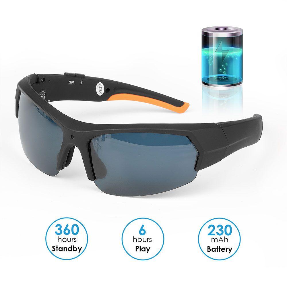 Мода HD 1080P солнцезащитные очки спортивная камера 16 ГБ 32 ГБ Bluetooth очки мини DV видеокамера портативный Out door солнцезащитные очки видеорегистратор