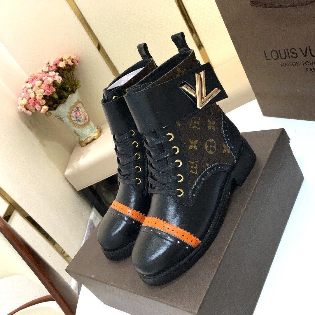 louis vuitton LV 2019 nuevos estilos cargadores al por mayor mujer de la nieve botas botas de los zapatos de moda casual de alta calidad superior de tobillo colores mezclados 35-41
