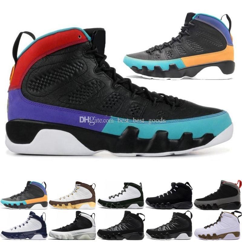 Горячие Новые 9 9s Мечты Это Do It UNC Швабра Мела Mens Basketball обувь LA OG Space Jam мужчины Bred 2010 релиза Black спортивных кроссовок дизайнера тренеров