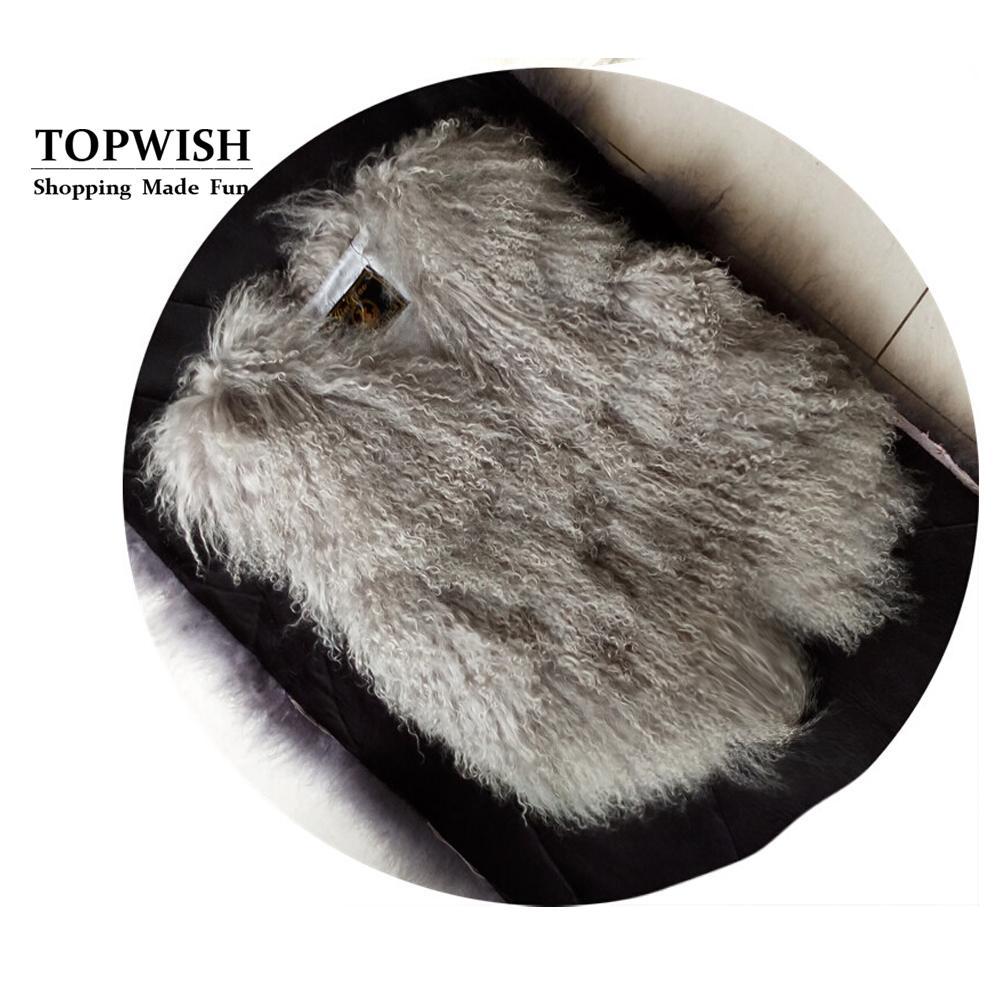 Genuina de oveja Mongolia Gilet piel Moda 100% real Tan piel de las ovejas del chaleco caliente OEM personalizado Chaleco TFP882