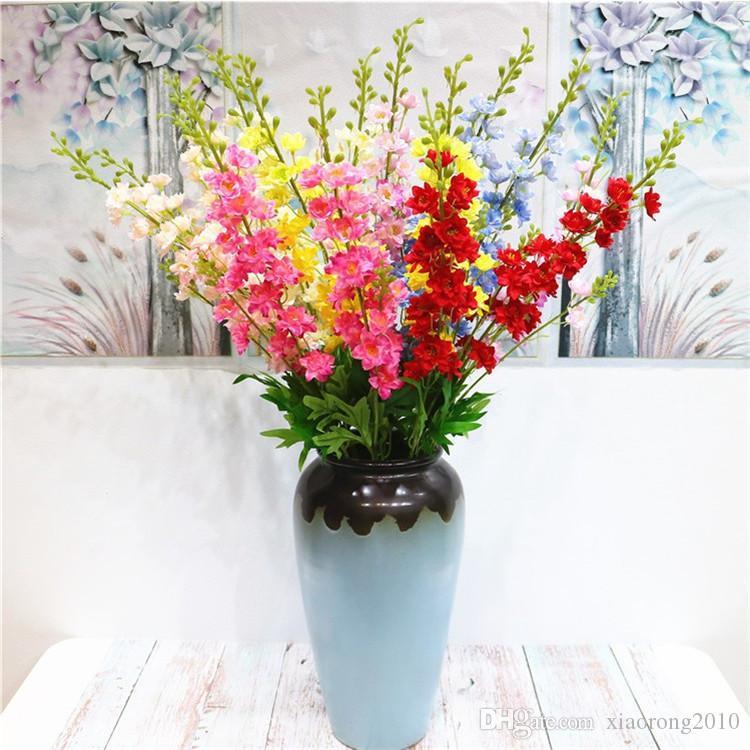 """Поддельный длиные гиацинт 33.46"""" Длина Simulation дельфиниум Violet для дома Свадебных декоративных искусственных цветов"""
