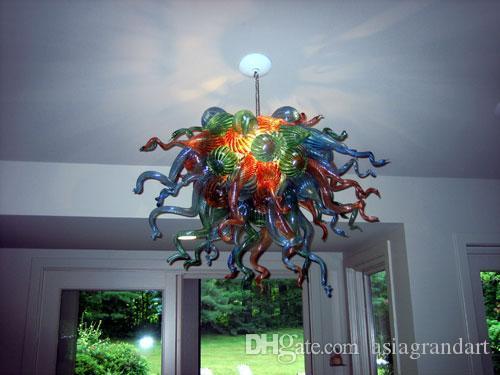 100٪ الفم في مهب CE UL البورسليكات زجاج مورانو كيلي دايل الفن غرفة المعيشة الحديثة قلادة الرئيسية الإضاءة الديكور