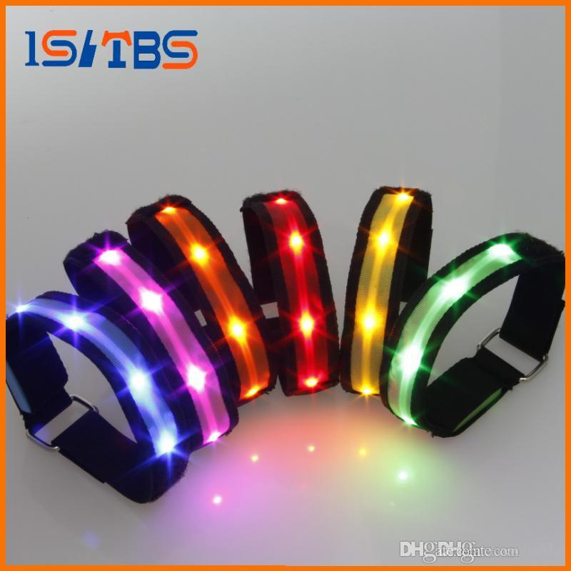 NEW 2017 Light up Toys Nylon Waterproof LED Flashing Bracelet Custom luminous wristband For Party decoration supplies