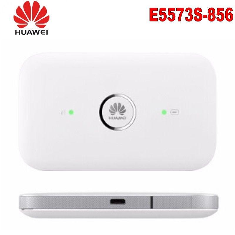Разблокирован Huawei E5573S-856 E5573 Гульчик Wi-Fi Маршрутизатор Mobile Hotspot Беспроводной 4G LTE FDD Band Портативный маршрутизатор + 2 шт. Антенна