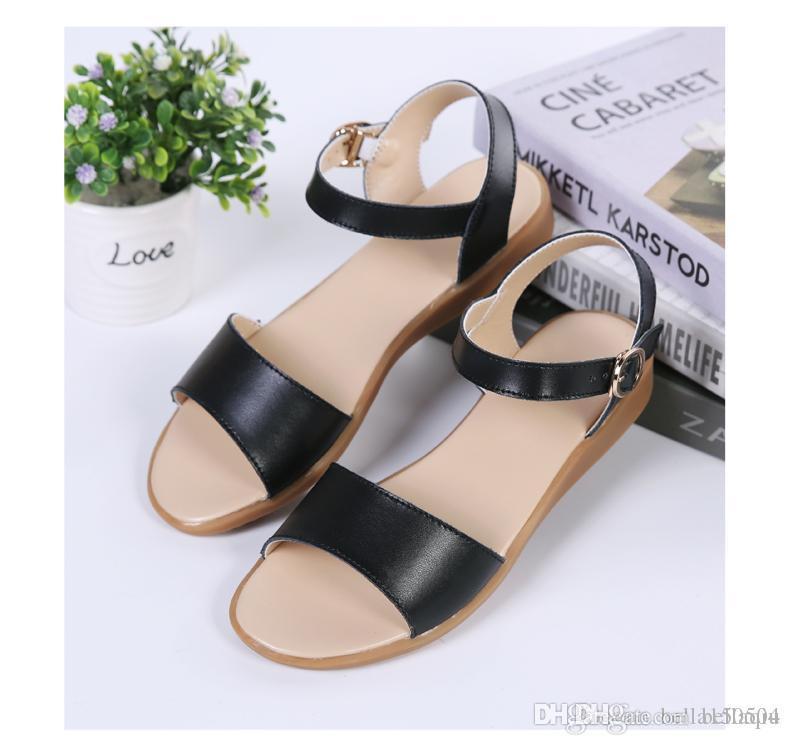 Designer grávidas mulheres sandálias antiderrapante sandálias Outer confortáveis sapatos mãe fundo macio concisa Sólidos verão Casual sapatos de qualidade superior