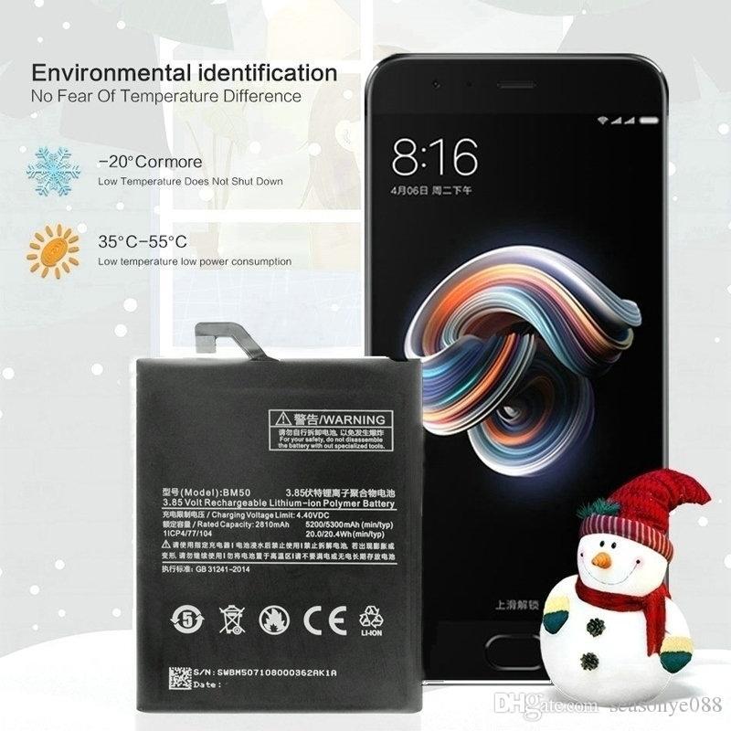 Vente au détail / en vrac véritable 5200mAh / 20.0Wh BM50 Téléphone Batteries pour Xiaomi Mi Max2 Mi Max 2 Smart Batteries pour Mobile