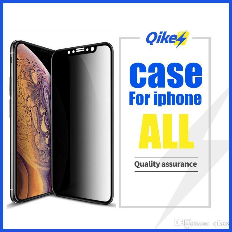 9H Privacy Protector anti Peeping vidrio templado de Cine para iPhone X XS Max XR 6 7 8 Plus 6S antideslumbrante protección de la pantalla