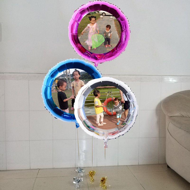 """Fertigen 24"""" 60cm Rundfolienballons Bild / Fotodruck Helium aufblasbar, Logo-Design werben, diy Hochzeit / Geburtstag Ball"""